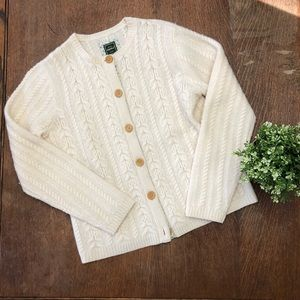 Eddie Bauer Wool Cable Knit Cardigan